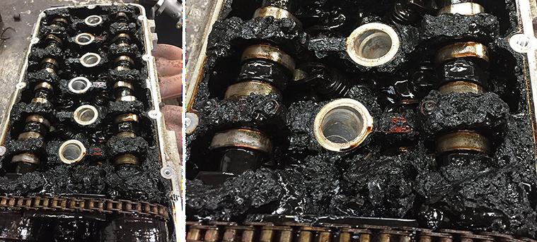 Испорченный двигатель, в котором не меняли масло